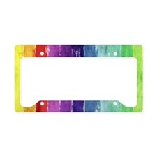 Geometric Stripes Watercolor License Plate Holder
