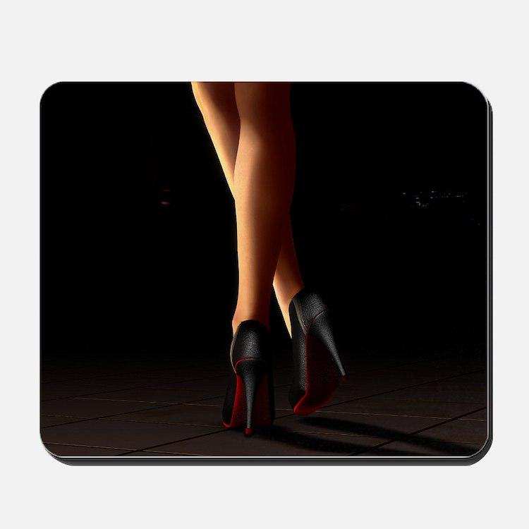 Legs on high heels Mousepad