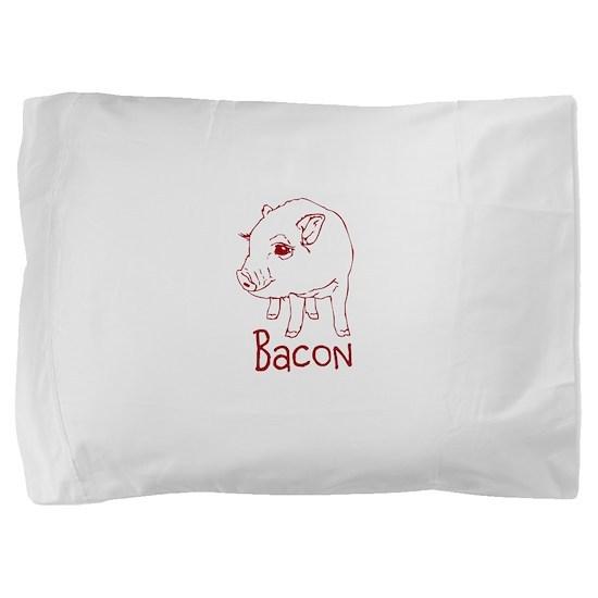 Bacon Pig Pillow Sham