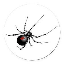Black Widow - No Txt Round Car Magnet