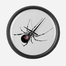 Black Widow - No Txt Large Wall Clock