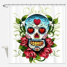 SugarSkull1 Shower Curtain