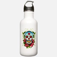 SugarSkull1 Water Bottle