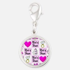 PRETTY MAID OF HONOR Silver Round Charm