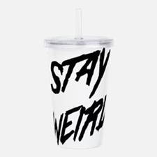 Stay Weird Acrylic Double-wall Tumbler