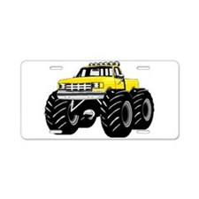 Yellow MONSTER Truck Aluminum License Plate