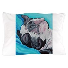 Sleepy Boston Terrier Pillow Case