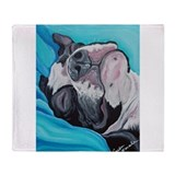 Boston terrier Blankets