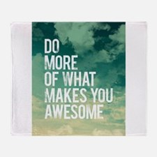 Do more Awesome Throw Blanket