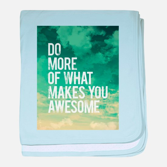 Do more Awesome baby blanket