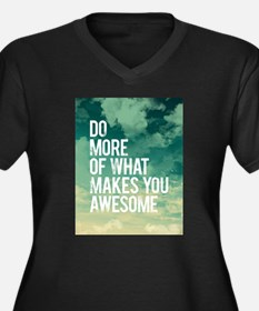 Do more Awesome Plus Size T-Shirt