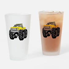 Yellow MONSTER Truck Drinking Glass