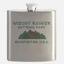 Mt. Rainier National Park Flask