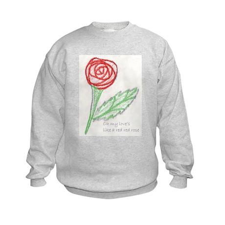 Red Red Rose Kids Sweatshirt