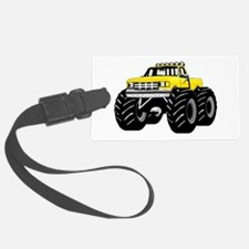 Yellow MONSTER Truck Luggage Tag