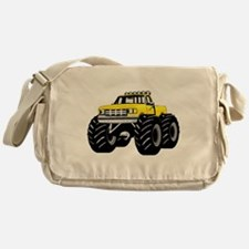 Yellow MONSTER Truck Messenger Bag