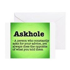 ASkhole Greeting Cards