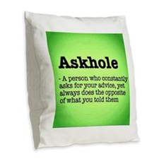 ASkhole Burlap Throw Pillow