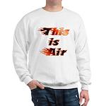 The On Fire Air Guitar Sweatshirt