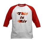 The On Fire Air Guitar Kids Baseball Jersey
