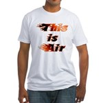 The On Fire Air Guitar Fitted T-Shirt