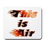 The On Fire Air Guitar Mousepad