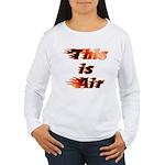 The On Fire Air Guitar Women's Long Sleeve T-Shirt