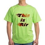 The On Fire Air Guitar Green T-Shirt