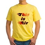 The On Fire Air Guitar Yellow T-Shirt
