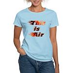 The On Fire Air Guitar Women's Light T-Shirt