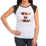 The On Fire Air Guitar Women's Cap Sleeve T-Shirt