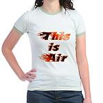 The On Fire Air Guitar Jr. Ringer T-Shirt