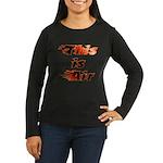 The On Fire Air Guitar Women's Long Sleeve Dark T-