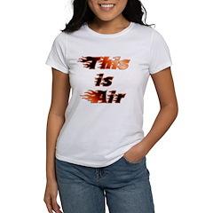 The On Fire Air Guitar Women's T-Shirt