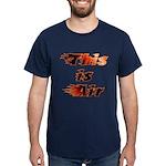 The On Fire Air Guitar Dark T-Shirt