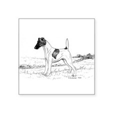 "Smooth Fox Terrier Square Sticker 3"" x 3"""