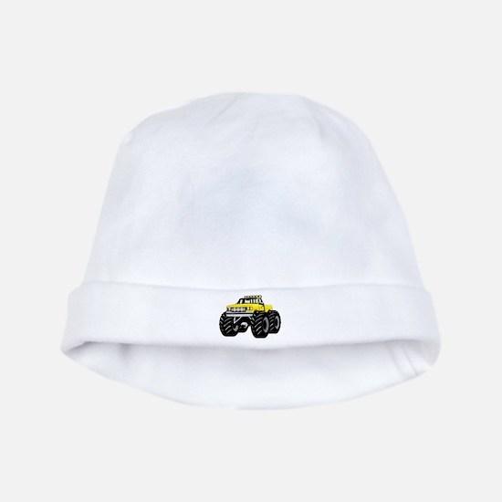 Yellow MONSTER Truck baby hat