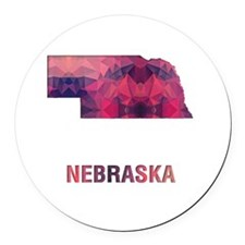 Cute Nebraska Round Car Magnet