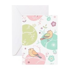 Birds and Flowers Greeting Cards