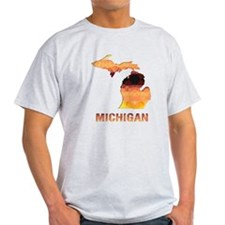MICHIGAN MAP T-Shirt