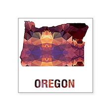 "Cute Map oregon Square Sticker 3"" x 3"""