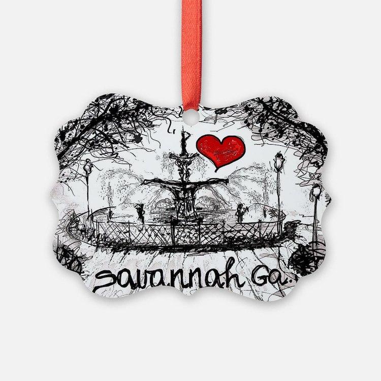 I love savannah Ga Ornament