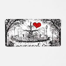 I love savannah Ga Aluminum License Plate