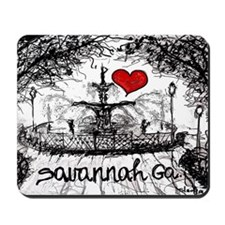 I love savannah Ga Mousepad