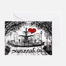 I love savannah Ga Greeting Card