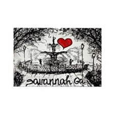 I love savannah Ga Rectangle Magnet