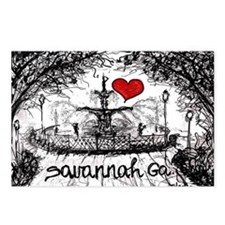 I love savannah Ga Postcards (Package of 8)