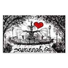 I love savannah Ga Decal
