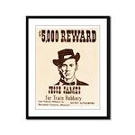 Wanted Jesse James Framed Panel Print
