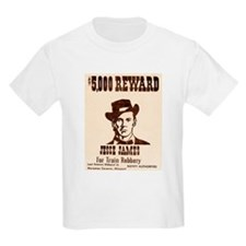 Wanted Jesse James T-Shirt